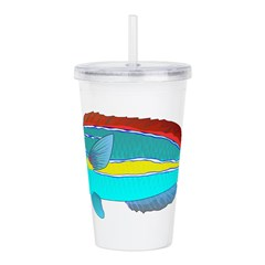 Belted Wrasse c Acrylic Double-wall Tumbler