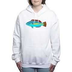 Belted Wrasse c Women's Hooded Sweatshirt