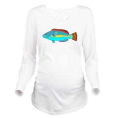 Belted Wrasse c Long Sleeve Maternity T-Shirt