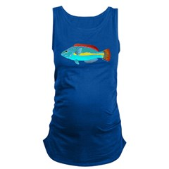 Belted Wrasse c Maternity Tank Top