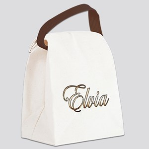 Gold Elvia Canvas Lunch Bag
