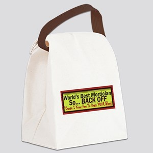 Best Mortician Canvas Lunch Bag