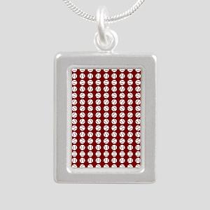 Sports: Baseball Ball Pattern Necklaces