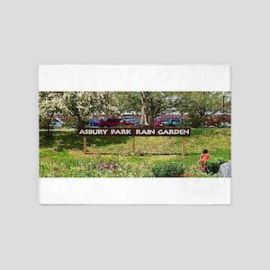 Asbury Park Rain Garden 5'x7'Area Rug