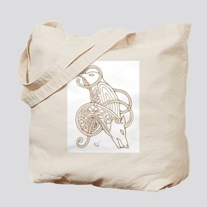 Norse Wolf & Raven Tote Bag