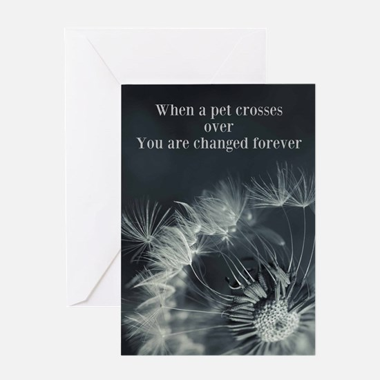 Death Of A Pet Card Greeting Cards