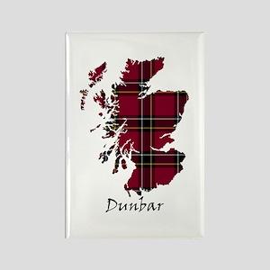 Map - Dunbar dist. Rectangle Magnet