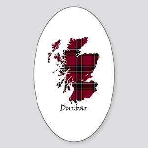 Map - Dunbar dist. Sticker (Oval)