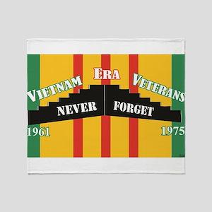 Vietnam Era Veteran Memorial Throw Blanket