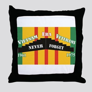 Vietnam Era Veteran Memorial Throw Pillow