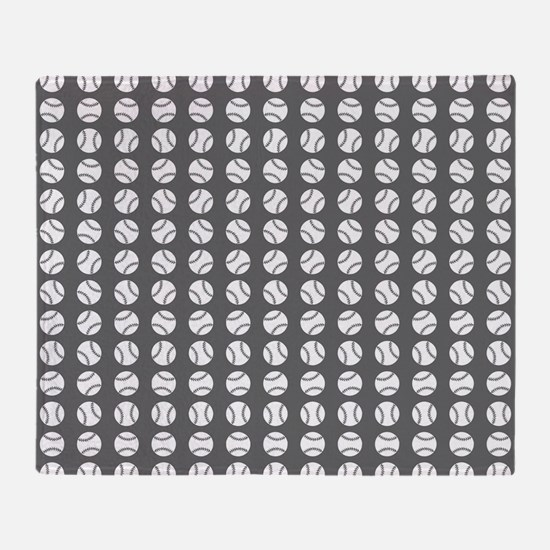 Sports: Baseball Ball Pattern Throw Blanket