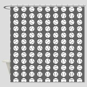 Sports: Baseball Ball Pattern Shower Curtain
