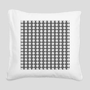 Sports: Baseball Ball Pattern Square Canvas Pillow