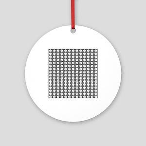 Sports: Baseball Ball Pattern Ornament (Round)