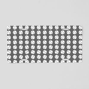 Sports: Baseball Ball Pattern Aluminum License Pla