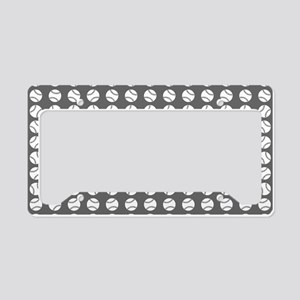 Sports: Baseball Ball Pattern License Plate Holder