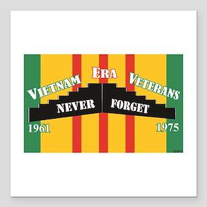 "Vietnam Era Veteran Memo Square Car Magnet 3"" x 3"""