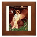 Seated Angel & Bolognese Framed Tile