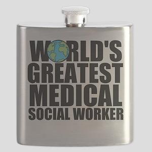 World's Greatest Medical Social Worker Flask