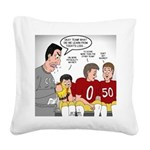 Loser Lessons Learned Square Canvas Pillow
