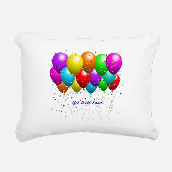 Get Well Balloons Rectangular Canvas Pillow