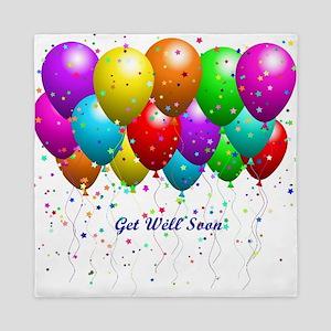 Get Well Balloons Queen Duvet