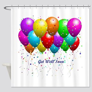 Get Well Balloons Shower Curtain