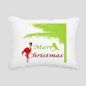 Tropical Christmas Rectangular Canvas Pillow