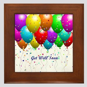 Get Well Balloons Framed Tile