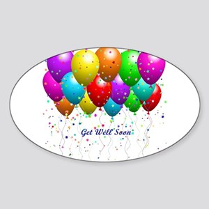 Get Well Balloons Sticker