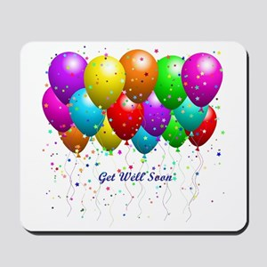 Get Well Balloons Mousepad
