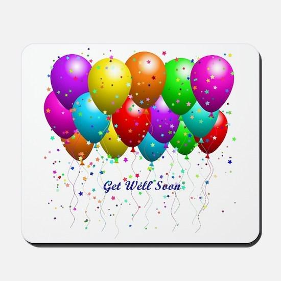 Get Well Balloons Mousepad