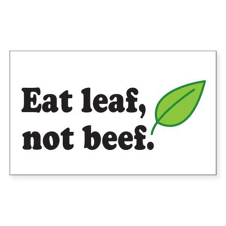 Eat Leaf Rectangle Sticker