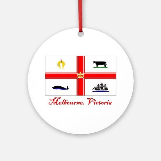 Melbourne, Vi Flag Ornament (Round)