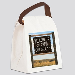 Colorful Colorado Welcome Highway Canvas Lunch Bag