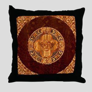 Harvest Moons Celtic Mandala Throw Pillow