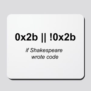 If Shakespeare Wrote Code Mousepad
