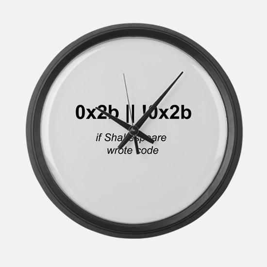 If Shakespeare Wrote Code Large Wall Clock