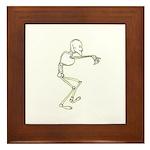 Dancing Skeleton Framed Tile