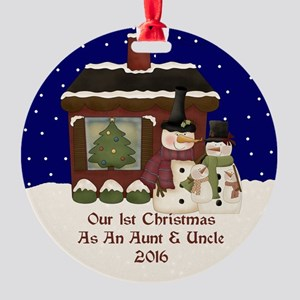 1St Christmas As An Aunt And Uncle 2016 Ornament