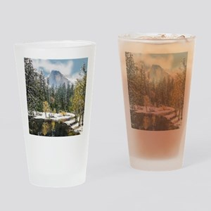 Half Dome and the Merced River Afte Drinking Glass