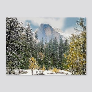 Half Dome and the Merced River Afte 5'x7'Area Rug