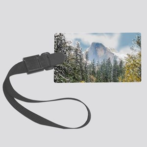 Half Dome and the Merced River A Large Luggage Tag