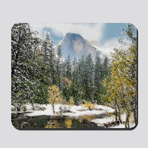 Half Dome and the Merced River After a S Mousepad