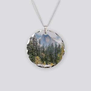 Half Dome and the Merced Riv Necklace Circle Charm