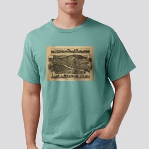 Vintage Map of Corning New York (1882) T-Shirt