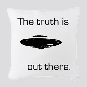 03052012-truth_out Woven Throw Pillow