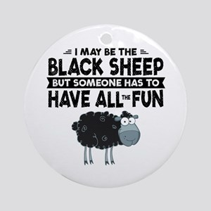 Black Sheep Round Ornament