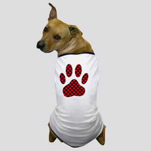 Dog Paw Print With Hearts Dog T-Shirt