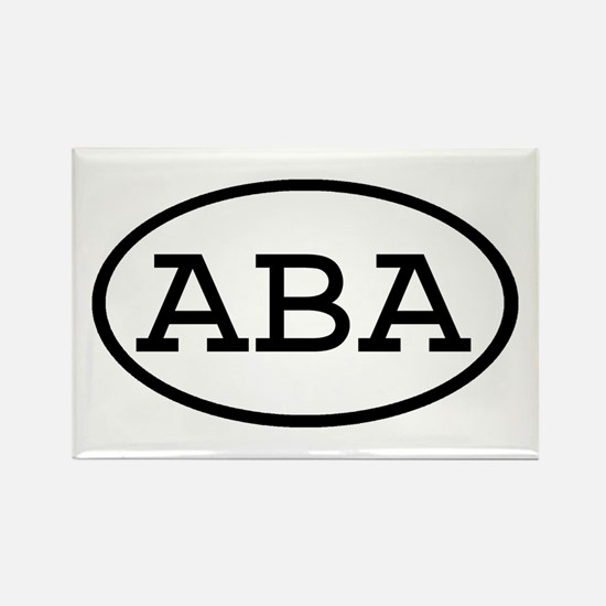 ABA Oval Rectangle Magnet